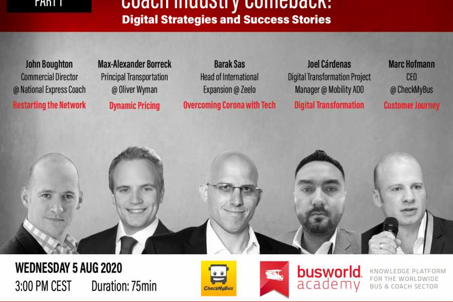 Mit fünf internationalen Referenten starten die Webseminare der Busworld Academy. (Foto: Busworld Academy)